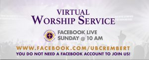 Virtual Worship Service @ Facebook Live | www.facebook.com/ubcrembert | Rembert | South Carolina | United States