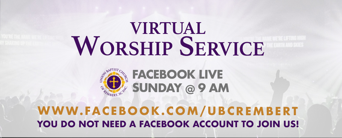 Virtual Worship at 9 AM