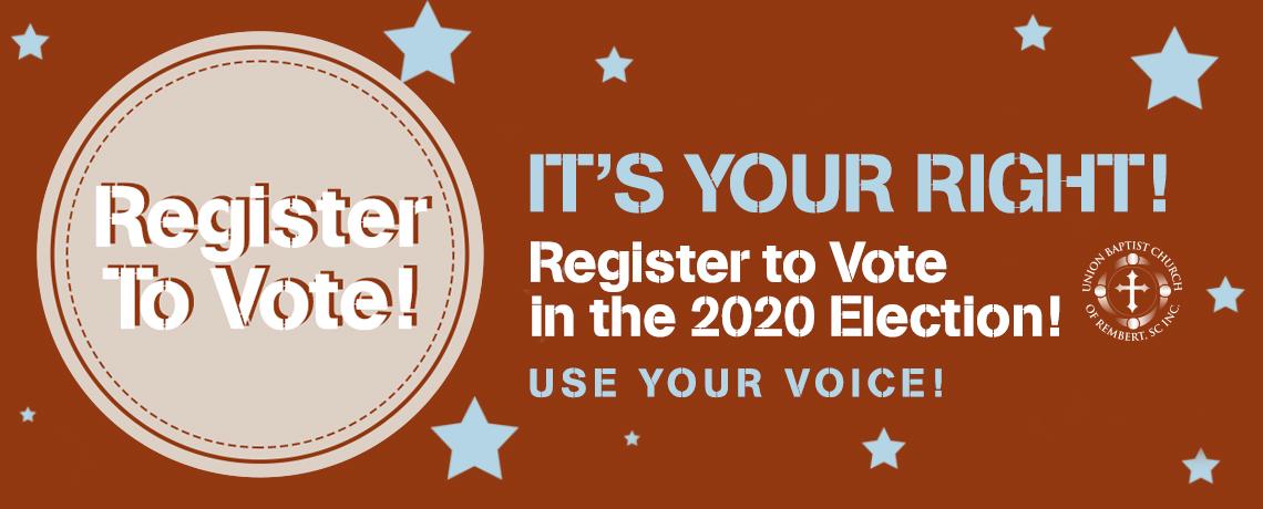 Register to Vote 2020