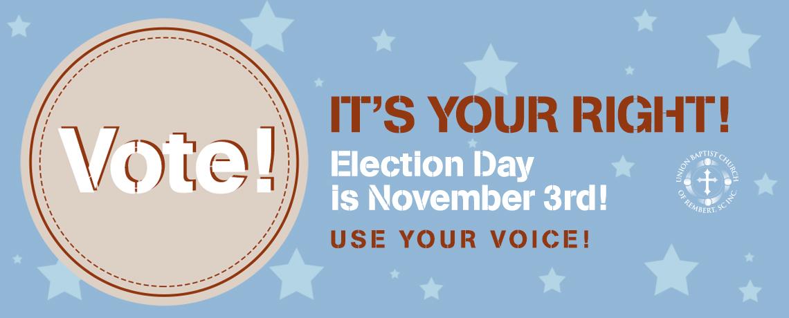 Vote November 3rd